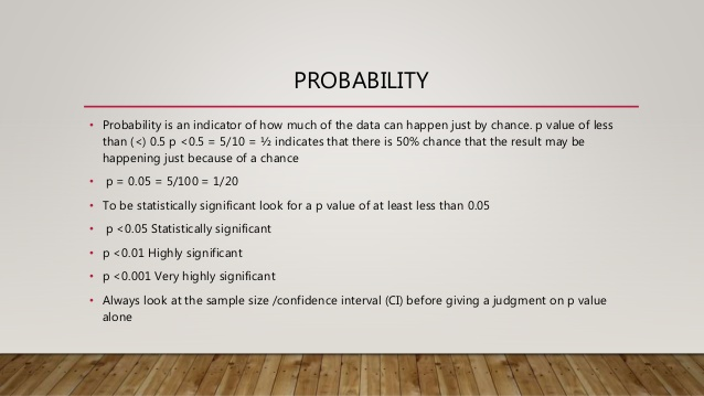 probability in medical science